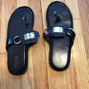 New MK leather sandals size 10